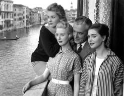 Vittorio De Sica sul set di Souvenir d'italie