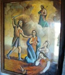 Questo quadro, all'interno della cappella, raffigura la leggenda delle tre verginelle