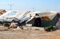 Un campo di rifugiati in Siria