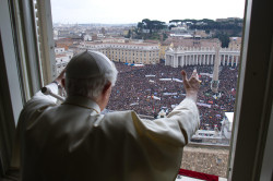 Vatican City 24 February 2013<br /> The last Angelus of Pope Benedict XVI