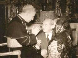 Il Cardinale Cento e Manrico Marinozzi con la moglie