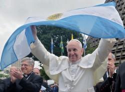 Papa Francesco tra i giovani della GMG di Rio