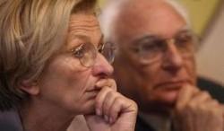 Il Ministro degli Esteri Emma Bonino e il segretario del Partito Radicale Marco Pannella