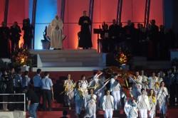 RIO DE JANEIRO, 26-07-2013. La Via Crucis con Papa Francesco a Copacabana.
