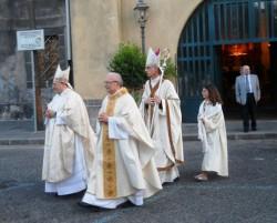 Don Giuseppe Russo con i Vescovi celebranti