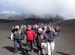 I giornalisti partecipanti al Master in escursione sull'Etna
