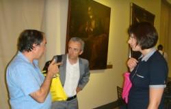 Il nostro direttore Giuseppe Vecchio con Francesco Zanotti (Fisc) e Lorena Leonardi (Sir)