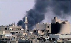 Un'immagine della guerra in Siria