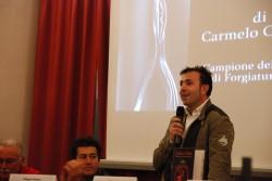 Carmelo Carmeni, durante il suo intervento, nell'aula Falcone Borsellino di Randazzo