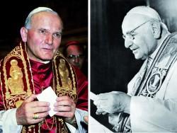 Papa Giovanni Paolo II e Papa Giovanni XXIII