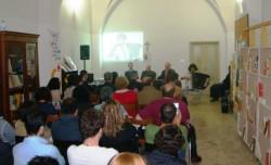 Il salone della Fuci di Acireale durante la presentazione del libro