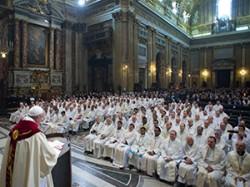 papa con i gesuiti