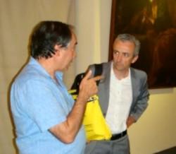 Il presidente nazionale della Fisc Francesco Zanotti (a destra) con il presidente regionale dell'Ucsi Giuseppe Vecchio, in una foto d'archivio