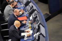 Martin SCHULZ EP President, Giorgio NAPOLITANO, Klaus WELLE Secretary General