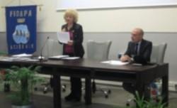 Vera Pulvirenti presenta il relatore prof. Marcello Proietto