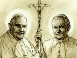 L'immagine ufficiale dei due nuovi santi