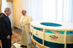 Papa Francesco riceve in udienza le squadre di calcio della Fiorentina e del Napoli