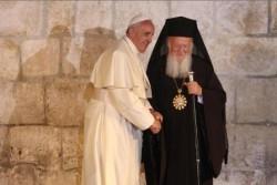 Papa Francesco con Bartolomeo I