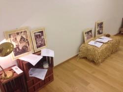 La galleria all'interno della villa Belvedere ha accolto testimonianze della storia della granita