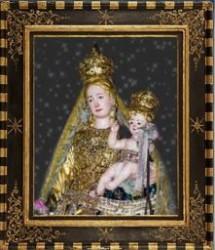 L'immagine della Madonna del Carmelo venerata ad Aciplatani