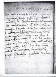 """Una pagina del """"Libro Rosso"""" che riporta la cronaca del passaggio di Carlo V a Randazzo, il 18 ottobre 1535"""