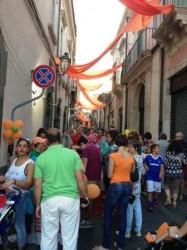 Via Cavour affollata durante la manifestazione