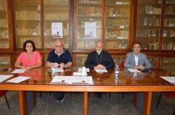 Nella foto da sinistra: Gabriella Chessari, don Mario Cascone, s.e. Paolo Urso e Gian Piero Saladino
