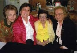 Da sin. Graziella Brex, M. Concetta Ferlito, Maria Barbagallo e Anna Bella