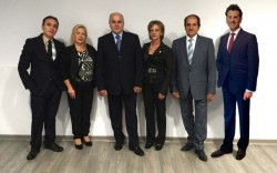 Il nuovo comitato provinciale: da sin. Puglisi, Cannata, il presidente Leanza, Zuccarello, Faro e Ingrassia.