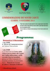 Locandina Commemorazione dei Caduti - Guardia