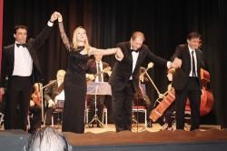I cantanti Filistad, Salamone e Marletta e il direttore Gullotta