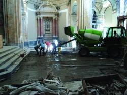 Fase dei lavori di pavimentazione - settembre 2013