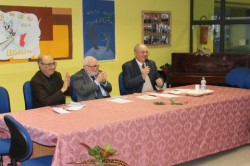Da sin. Alfonso Sciacca, Andrea Vecchio, Giovanni Vecchio