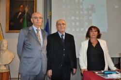 Da sin. il dott. Giuseppe Contarino, il prof. Edoardo Tortorici e la prof.ssa Maria Teresa Magro