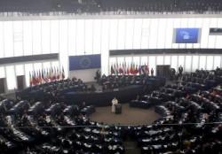 L'aula del Parlamento di Strasburgo