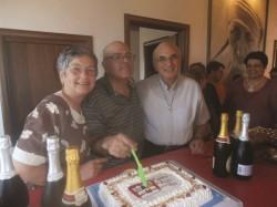 La torta dei dieci anni di attività del Cav