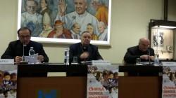 Da sinistra: mons. Domenico Pompili, S.E.R. mons. Francesco Montenegro, mons. Gian Carlo Perego