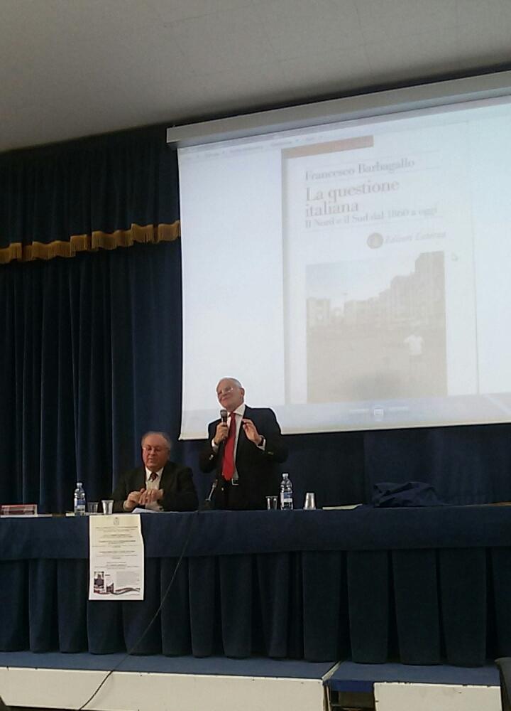 Il dott.Giovanni Vecchio e il professor Francesco Barbagallo