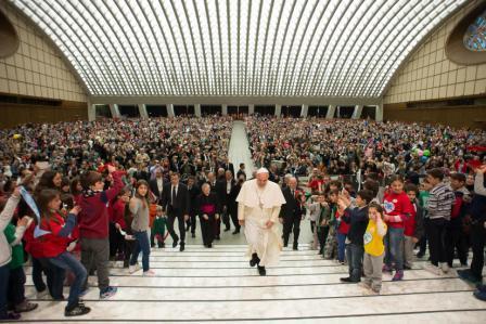 Papa Francesco incontra le famiglie numerose