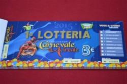 Il biglietto della lotteria (foto Consoli)
