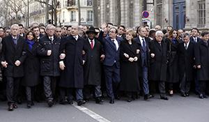 Capi di Stato e di Governo marciano contro il terrore
