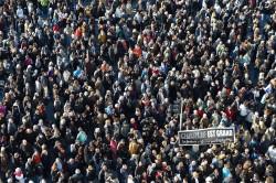la manifestazione spontanea di sabato 10 a Marsiglia: tutti insieme, ebrei e musulmani