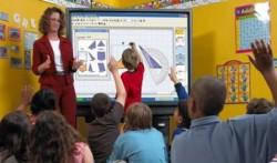 Uso della LIM (lavagna interattiva multimediale) in una scuola