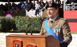 Colonnello Benito Anastasio, comndante del 5° Reggimento Fanteria Aosta