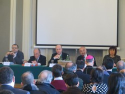 Da sinistra: Giambattista Tona, Vito Branca, mons. Guglielmo Giombanco, Filippo Dispensa, Giusy Bosco