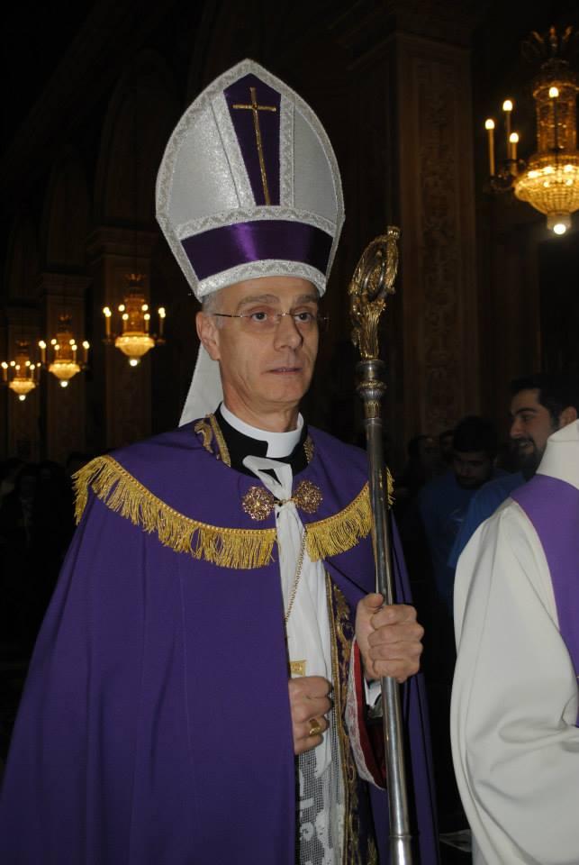 Vescovo Raspanti durante la Festa del Perdono del 26 marzo