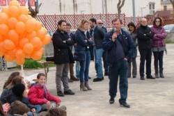 L'intervento di Filippo Casella durante la manifestazione antimafia