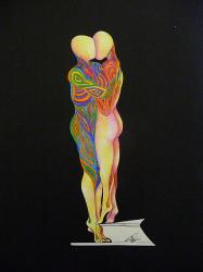 Una delle sculture presenti alla mostra