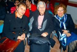 Lucia Brischetto tra M. Tomarchio e M. Acagnino