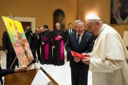 Scambio di doni tra Francesco e Castro